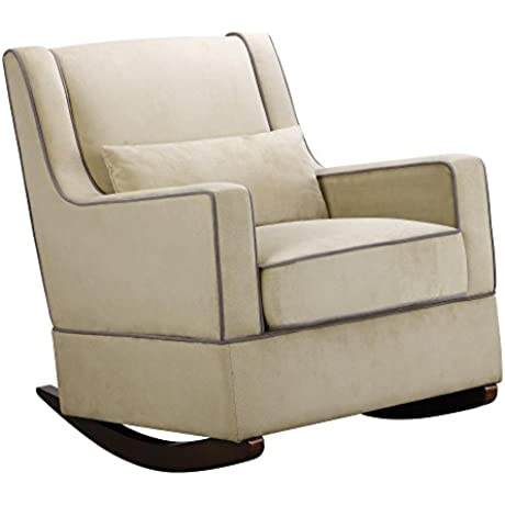 Baby Relax The Sydney Nursery Microfiber Rocker Chair And Free Lumbar Pillow Beige