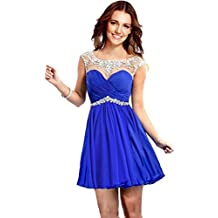 Rongstore Women's Chiffon Short Party Gowns 2016 Homecoming Dresses for Girls