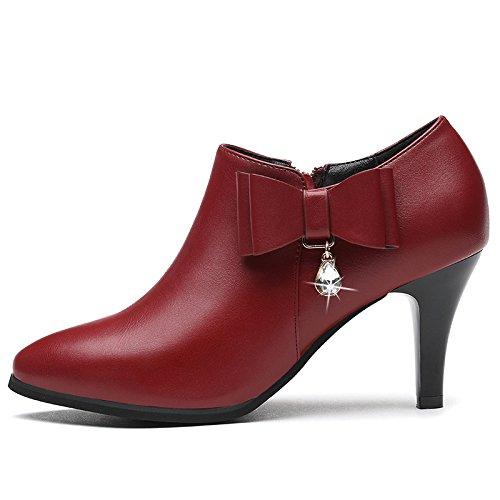 Vino Y De Treinta Una El Forty Tinto Moda Dama Zapatos Partido Todo KPHY Arco Con Ocho OqaCOg