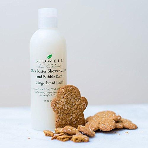Gingerbread Latte Shea Butter Shower Crème Body Wash and Bubble Bath ()