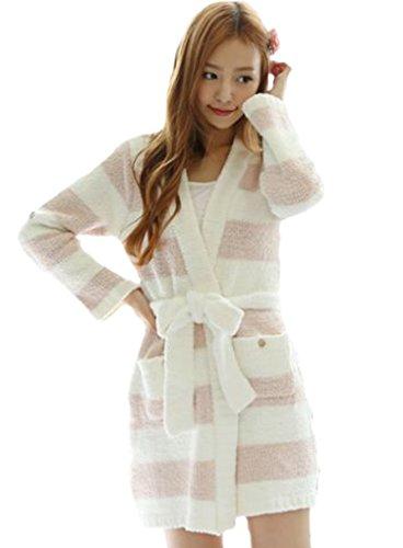 [LUCE miraco] Womens Nightgown Comfort Cotton Sexy Sleepwear Pajamas Nightdress (Pink)