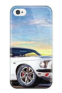 Fashionable Design Mustang Vehicles Hot Rod Cars Hot Rod Rugged Case Cover For Iphone 4/4s New