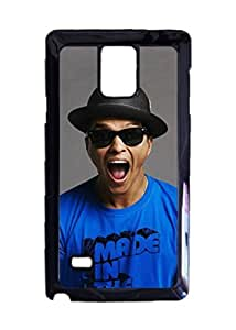 Bruno Mars Excited Unique Diy Skin Custom Hard Durable Case for Samsung Galaxy Note 4 Case by ruishername
