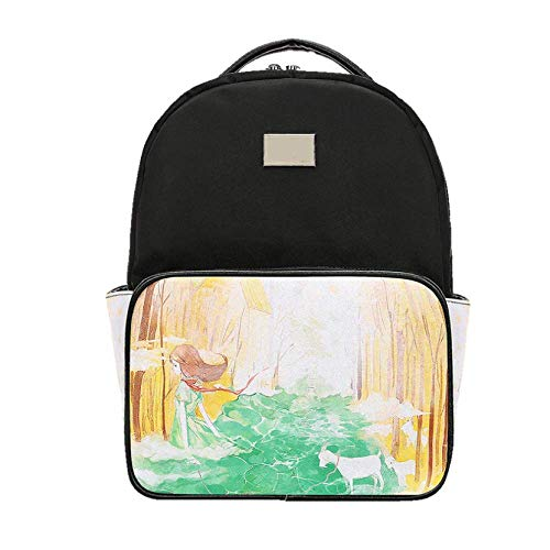 Casual Backpacks Ladies Yxpnu Étudiants Chic Glamour Black Mode Simple gnzvqZH