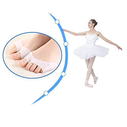 AP Shop, 2 Pcs Silicone Toe Sleeve Foot Protection Ballet Shoe High Heels Toe Pads Gel Protective Care Tool Orthopedic Massager Z38201.
