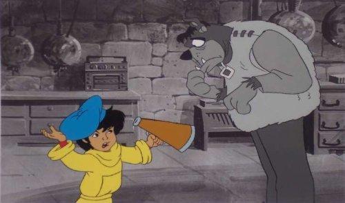 Scooby-Doo Production Cel of Flim Flam directing Scooby/Frankenstein Monster - Hanna Barbera Original