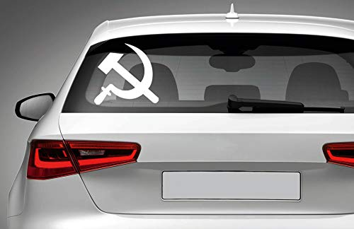 (USSR Soviet Hammer Vinyl Decal - for Car Laptop MacBook Phone Truck Bumper Window Wall Bathroom Bedroom Door Decals Sticker Made in USA!)