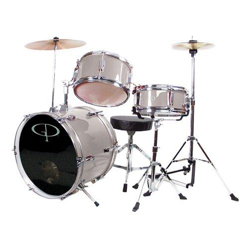 gp-percussion-gp50sv-complete-junior-drum-set-silver-3-piece-set