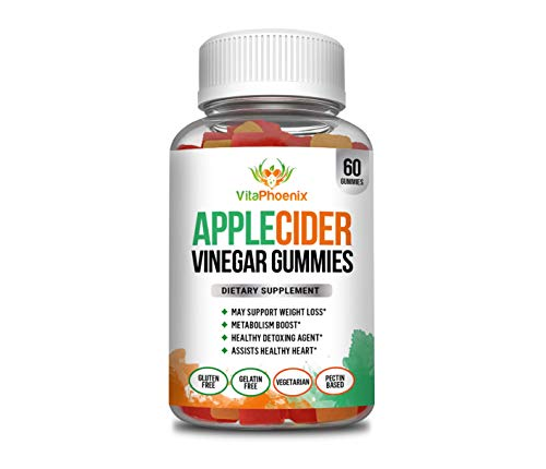 Apple Cider Vinegar Gummies - Support All Natural Weight Loss, Appetite Control, Metabolism Boost, Detox, Hormone Balance and Circulation - 60 Gummies (30 Servings)