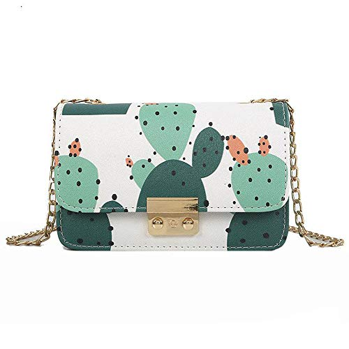 Cactus Printing Shoulder Bag Chain Handbag Crossbody Bag Messenger Bag ()