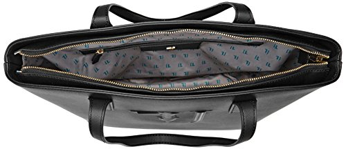 Trussardi Jeans 75b00008-1y090125, Borsa a Spalla Donna, 43x30x17 cm (W x H x L) Nero