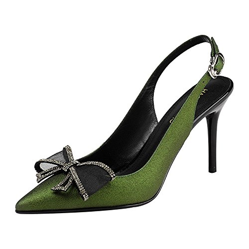 Zapatos solteros CN37 EU37 mujer 5 UK4 delgado de 5 mujer tacón de Zapatos Tamaño Sandalias de ZHIRONG de primavera SqBw6txYUU