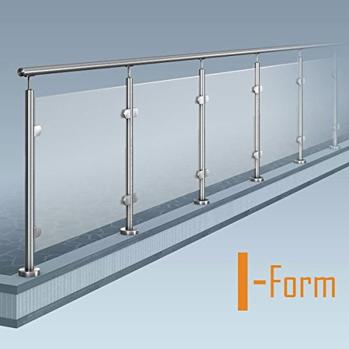 Glas Pfosten Gelander I Form Ohne Ecke Bausatz Diy