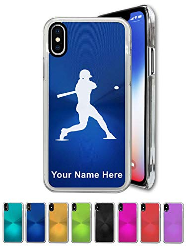 Case Compatible with iPhone XR, Baseball Player 3, Personalized Engraving Included