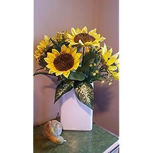 Fall Floral Arrangement, Sunflower Arrangement, Fall Decor, Fall Flowers 45