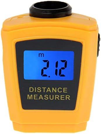 Telémetro Mini Medidor de Distancia por ultrasonidos con Puntero láser (Naranja) ZYS