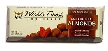 Amazoncom Worlds Finest Chocolate Continental Almonds 10