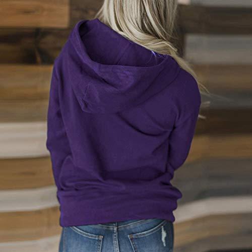 clair solide fonc Mode M violet chic manches L longues veste pull chemisier femmes 3XL fermeture casual S femme Noir gris vin 2XL pull hippie gris chemisier clair XL officier bleu Violet sweat EwSnrqIw