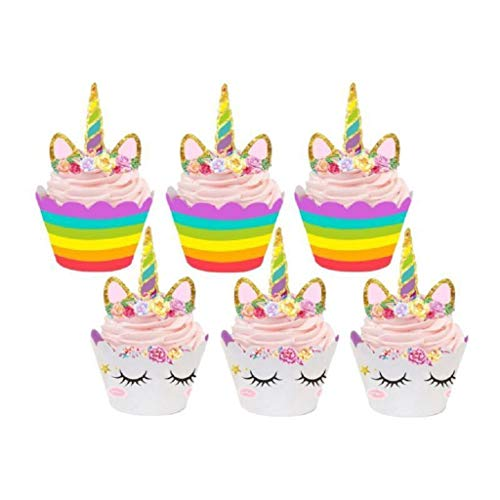 XMNDS Cupcake Toppers Wedding Wrappers MSU Pug Decorations Liners Birthday Liners WVU Rings Cutouts 12 Muffin Large pan Box Girls Crown Supplies 3-d Reusable Wedding Rustic - 2 Rio Birthday Party Supplies