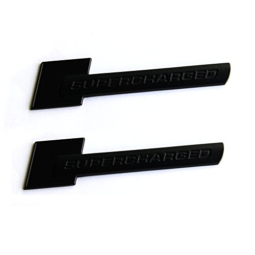 (Sanucaraofo 2pcs OEM Supercharged Badge Emblems 3D Decal for Audi TT A3 A4 A5 A6 A7 A8 Q3 Q5 Q7 S4 S6 S5 RS5 Matte Black)