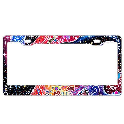 EXMENI Zenith License Plate Frame/Inspired License Plate Frame Waterproof Mental