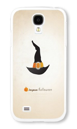 Phone Case Custom Samsung Galaxy S4 I9500 Phone Case Fond Ecran Halloween Gratuit X White Polycarbonate Hard Case for Samsung Galaxy S4 I9500 Case ()