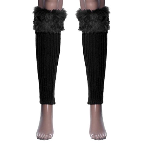 [Siniao 1 Pair Women Stretch Boot Leg Cuffs Adult Socks (Black)] (Viking Outfits For Adults)