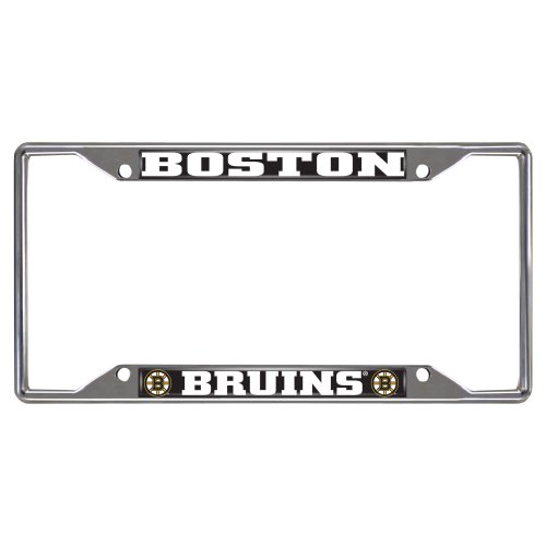 Nhl License Plates Plate - FANMATS 14836 NHL Boston Bruins Chrome License Plate Frame , 6.25