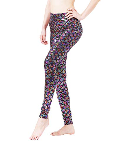 Maxi Mermaid Leggings Halloween Costumes Scale Pants Clothes for Women]()