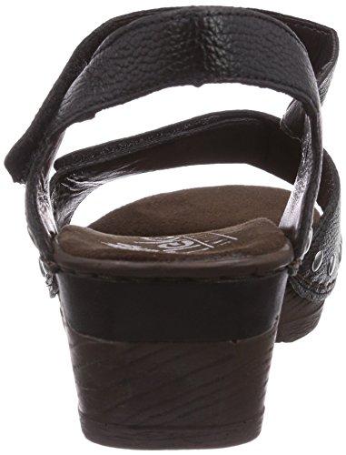 Rieker 66863, Women's Closed Toe Sandals Black (Schwarz 01)