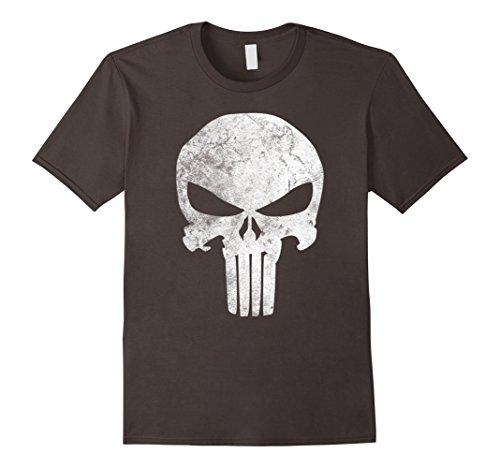 ca68e3be Mens Marvel Punisher Skull Symbol Distressed Graphic T-Shirt 3XL Asphalt