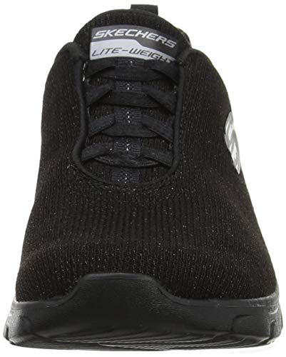 Negro Zapatillas Empire Bright D'lux black Skechers Bbk Para burn Mujer wR7FHg