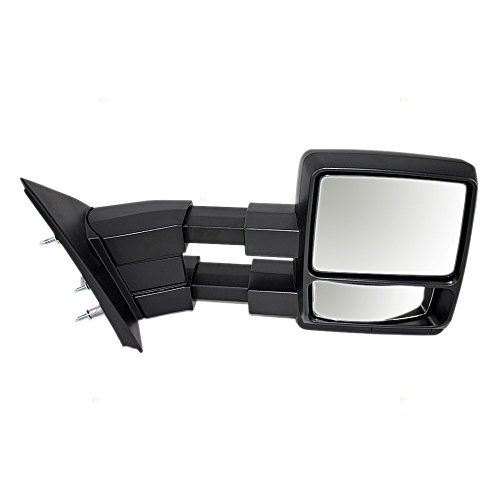 Passengers Manual Side View Tow Mirror Telescopic Dual Arms Replacement for Ford F-150 Pickup Truck 9L3Z17682AC