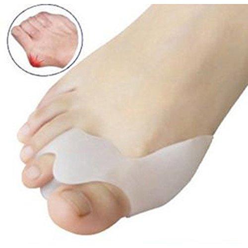 AP Shop, 1 Pair Silicone Gel Hallux Valgus Protect Pain Relief Posture Corrector Beetle-Crusher Toe Separator Ectropion Corrector Foot Care.