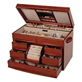 Mele Empress Walnut Wooden Jewelry Chest - ML295
