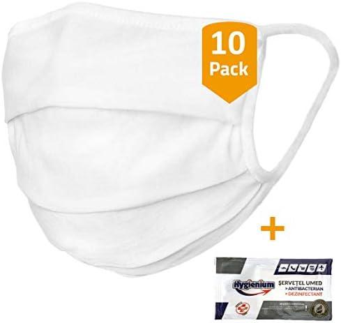 Pack de 10 Mascarilla protectora de 100% algodón orgánico Oeko-TEX ...
