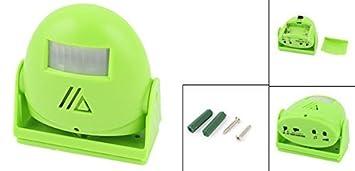 Amazon.com: eDealMax Infrarrojos IR Detección de bienvenida de alarma inteligente de felicitación del Timbre de la puerta Verde: Electronics