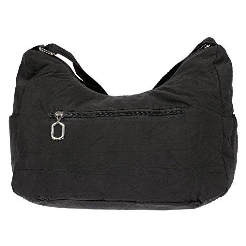 Christian Wippermann® - Bolso al hombro para mujer marrón marrón 28 x 20 x 12 cm morado