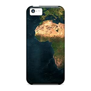 New Fashion Premium Cases Covers For Iphone 5c - Earth Map Dual Monitor