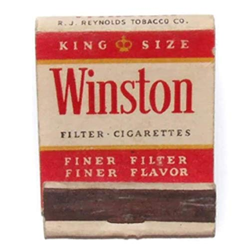 Winston Cigarettes Vintage Advertising Matchbook