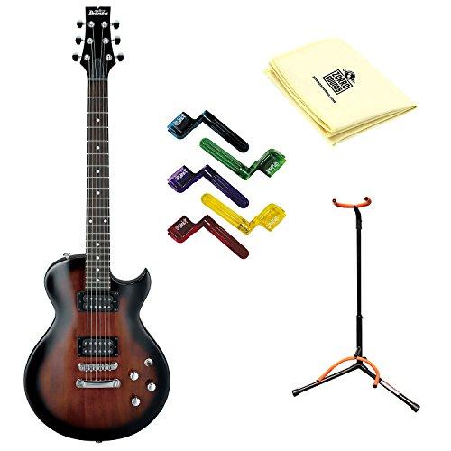 Ibanez GART60 Electric Guitar in Dark Violin Sunburst with Polishing Cloth, Stand and Pegwinders (Ibanez Sunburst Violin)