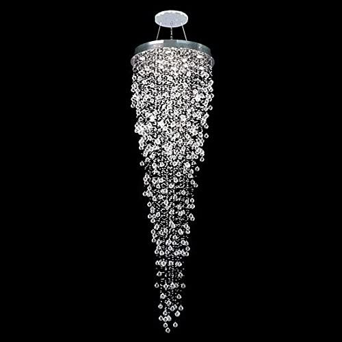 APBEAM Contemporary Crystal Raindrop Staircase Chandelier