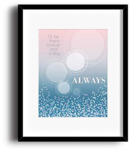 Always by Bon Jovi - Music Quote Print or Poster - Song Lyric Wall Visual Art - Home Decor Gift (Christmas Lyrics Bon Jovi)