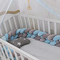 BESPORTBLE 130x30cm Crib Bed Bumper Anti Collision Pine Pattern Crib Liner Pad Anti Fall Infant Bed Protective Fence Guard for Baby Newborn Toddler
