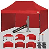 ABCCANOPY 18+ Colors Deluxe 10x15 Pop up Canopy Outdoor Party Tent Commercial Gazebo with Enclosure Walls and Wheeled Carry Bag Bonus 4X Weight Bag and 2X Half Walls