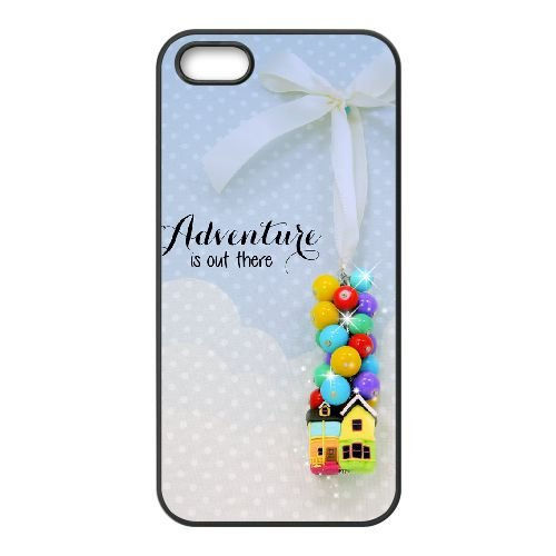 Adventure Is Out There 001 coque iPhone 5 5S cellulaire cas coque de téléphone cas téléphone cellulaire noir couvercle EOKXLLNCD21357