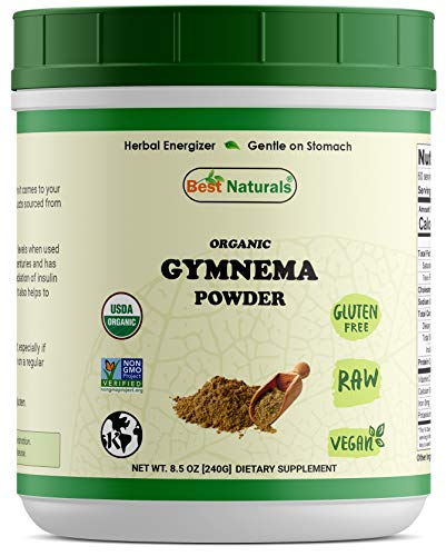 Best Naturals Certified Organic Gymnema Powder 8.5 OZ (240 Gram), Non-GMO Project Verified & USDA Certified Organic (Gymnema Sylvestre Powder)