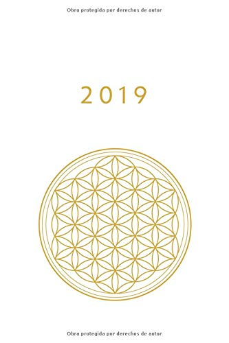 2019 ENE - DIC Agenda Semanal | 152 x 229 mm | 1 Semana en 2 Páginas | 52 Semanas Planificador y Calendario | Flor de la Vida  [Otto Organizador] (Tapa Blanda)