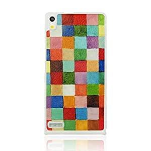 Colorful Grids Pattern Hard Case for Huawei Ascend P6