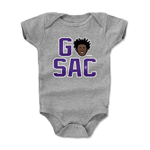 500 LEVEL Sacramento Basketball Baby Clothes, Onesie, Creeper, Bodysuit - 3-6 Months Heather Gray - De'Aaron Fox GO SAC P WHT